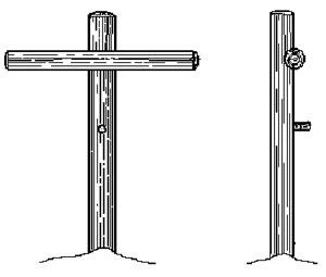 Ймовірний вигляд хреста, на якому розіп'яли Ісуса.